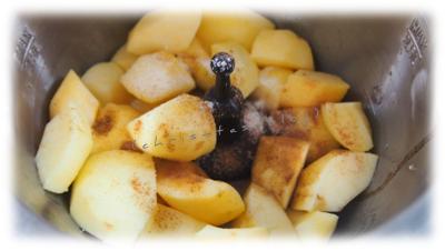 Äpfel in den Preppie geben