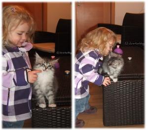 Virginia und ihre kleine Katze Mia