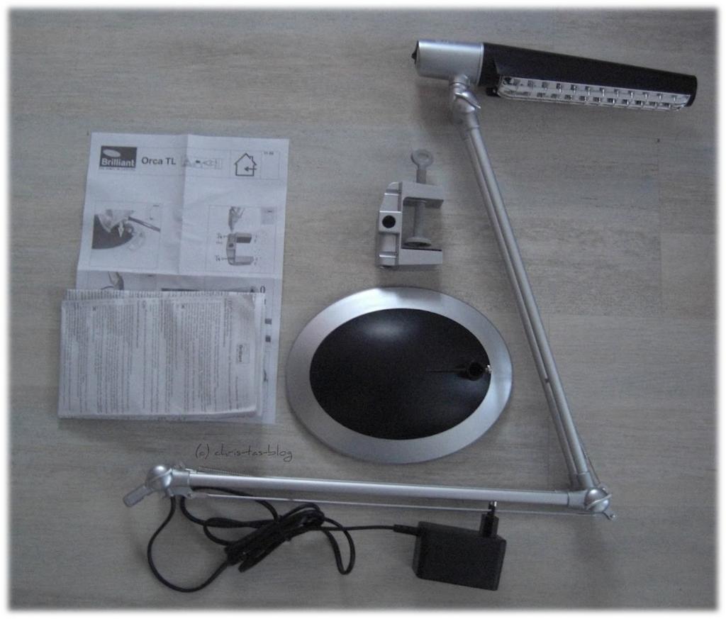 Mein Testprodukt: Lampe Orca von Brilliant AG