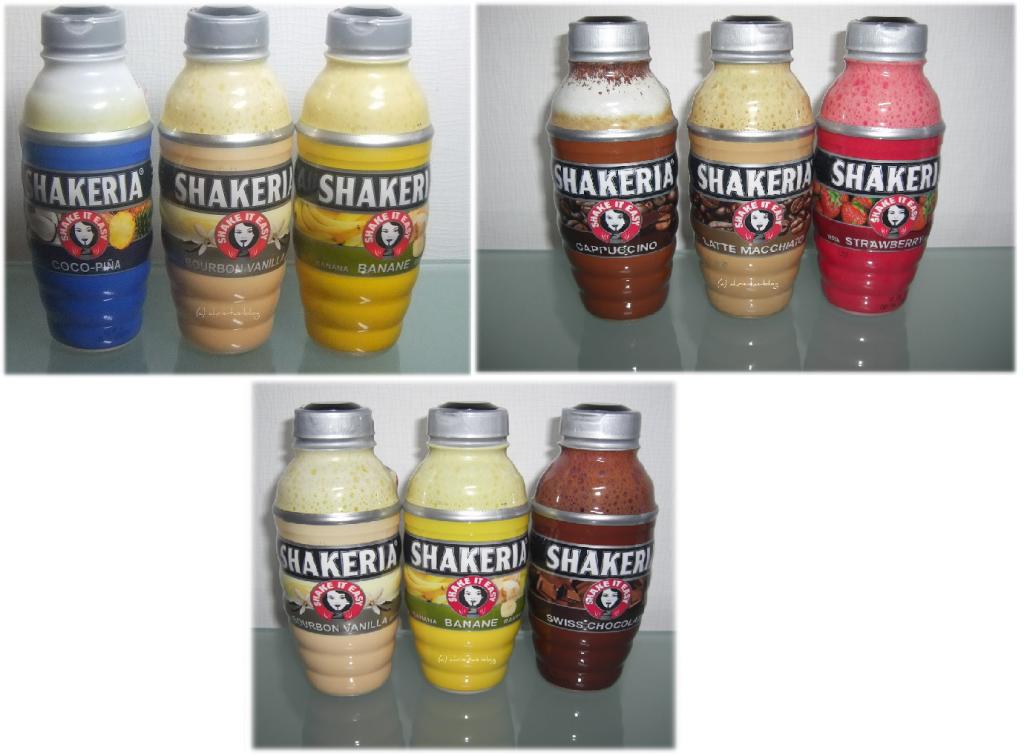 Shakeria in 7 verschiedenen Sorten erhältlich