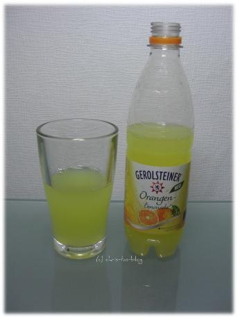 Orangenlimonade von Gerolsteiner