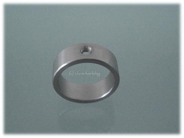 Edelstahl-Ringschiene für die wechselbaren Steine
