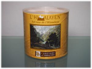 Dose mit rosa Himalaya-Salz