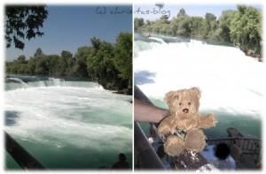 Bloggi bei den Manavgat-Wasserfällen in der Türkei