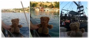 Bloggi auf dem Piratenschiff in Antalya - Türkei