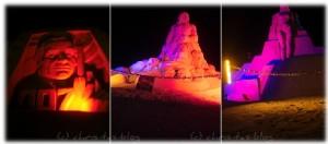 Bloggi bei den Sandskulpturen in antalya - Türkei