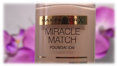 Glas Flakon mit Pump-Spender Max Factor Miracle Match Foundation