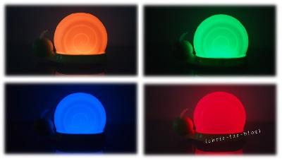 Leuchtschnecke Farben