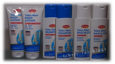 Totes Meer Bodylotion, Shampoo, Wasch-Gel