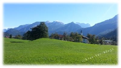 Auf der Fahrt nach Golling in Österreich