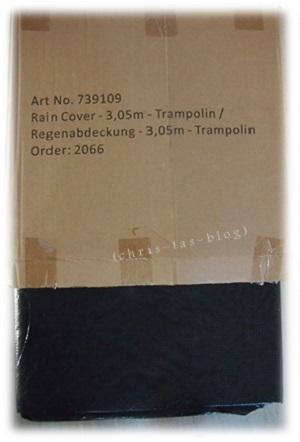 Regenabdeckung für unser Trampolin