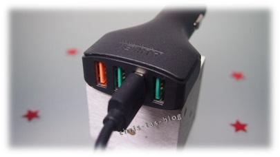 4fach USB Kfz Ladegerät