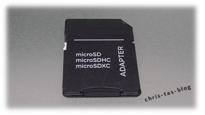 Adapter für microSDHC Karten