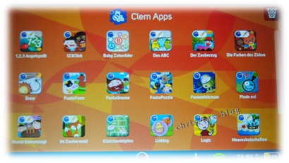 Clem Apps Kinder Tablet