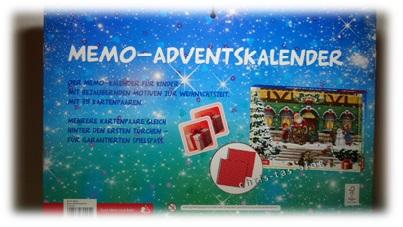 Kinder Adventskalender Memoryspiel