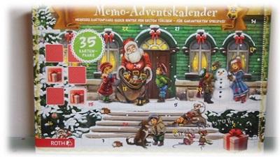 Memo-Adventskalender von Roth