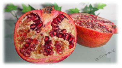 Granatapfel für Dessert