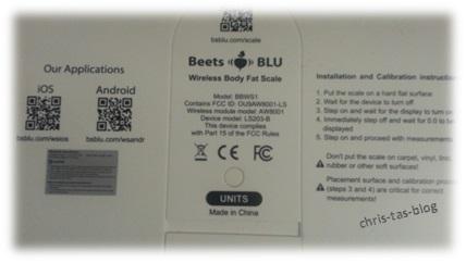 Rückseite smarte Personenwaage Beets BLU