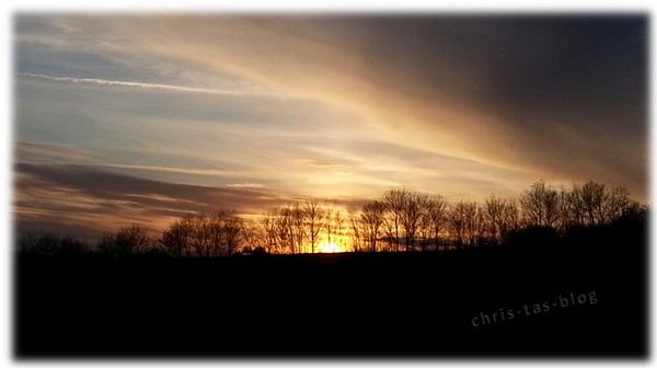 Sonnenuntergang Februar 2016
