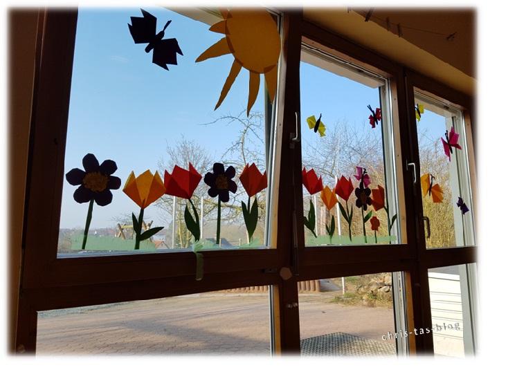 Blumendeko im Kindergarten