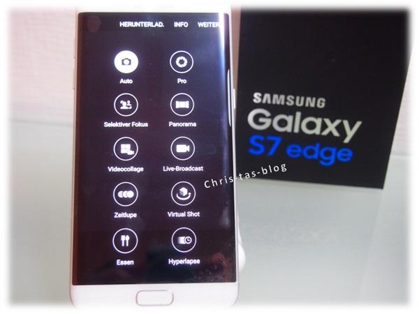 Kameraeinstellungen Samsung Galaxy S7 edge