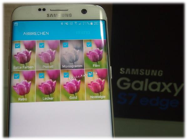 Kameramenü Samsung Galaxy S7 edge