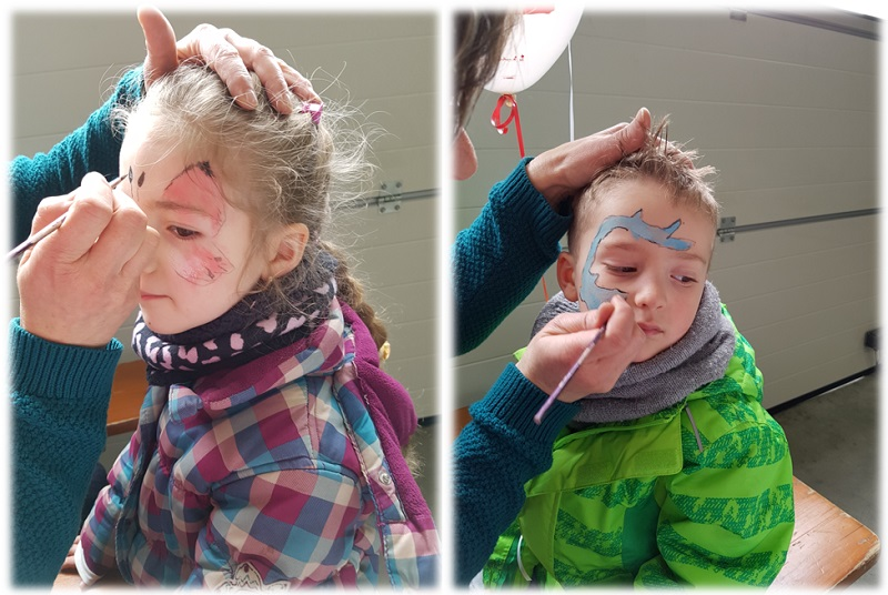 Kinderschminken Gewerbetag Neustadt Aisch