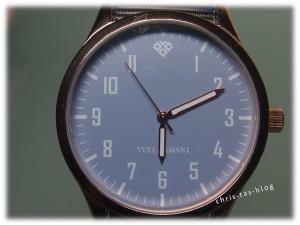 Mineralkristallglas in Armbanduhr Yves Camani