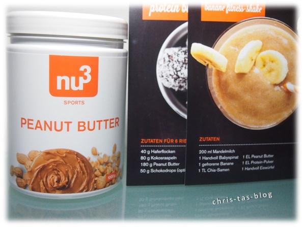 nu3 Peanut Butter und Rezeptkarten