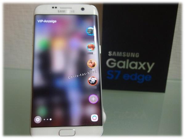 seitliche Menüleiste Galaxy S7 edge