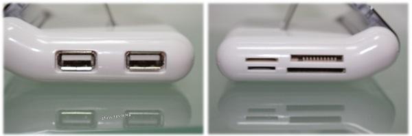 Kartenslot und USB-Anschlüsse Olixar