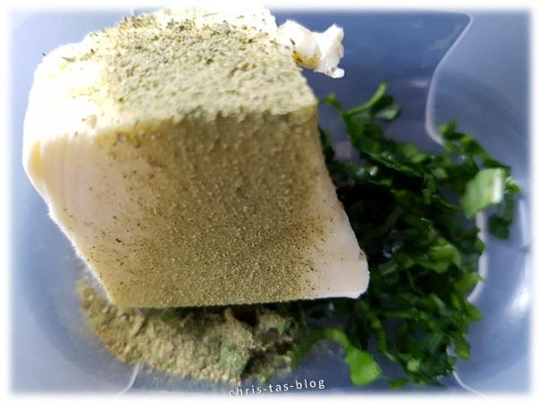 Zutaten Bärlauch-Moringa-Butter