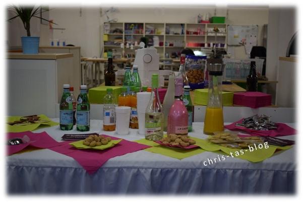 Getränke und Snacks