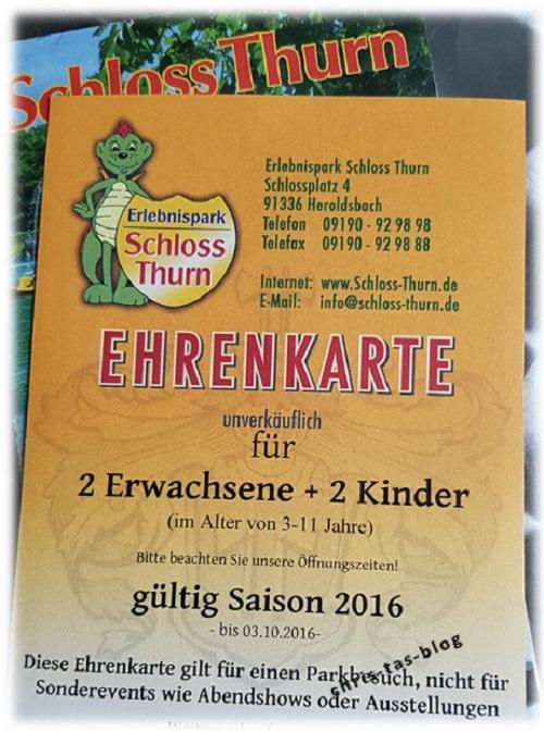 Ehrenkarte Schloss Thurn