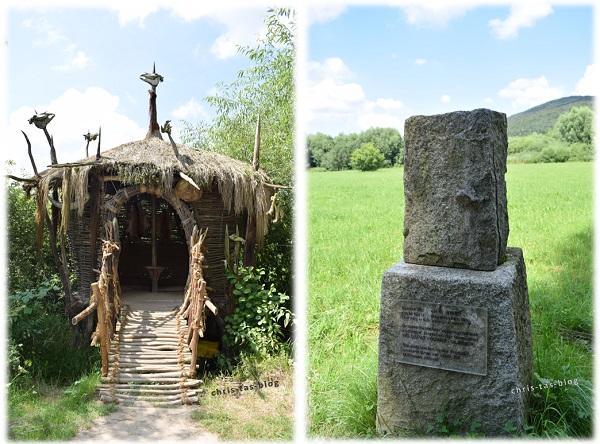 Hütte und Steinbuch Wildgarten Furth im Wald