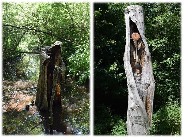 Mystisches und Baumuhr im Wildgarten Furth im Wald