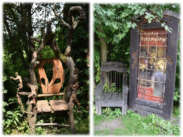 Sitzmöbel im Wildgarten Furth im Wald