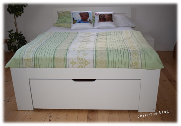 Unser neuer Bett