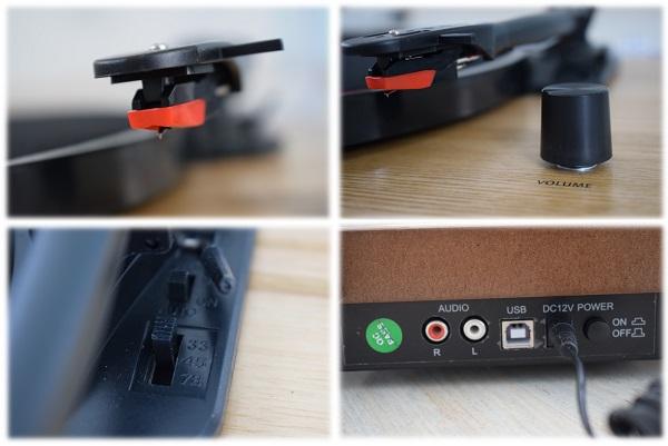 auna Retro Plattenspieler USB Detail