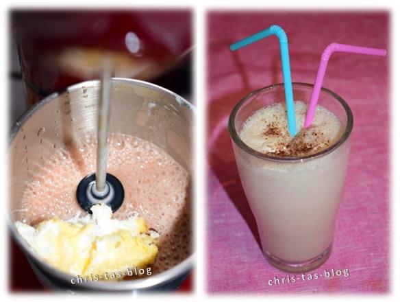 Kakao-Vanille-Eierlikör-Shake