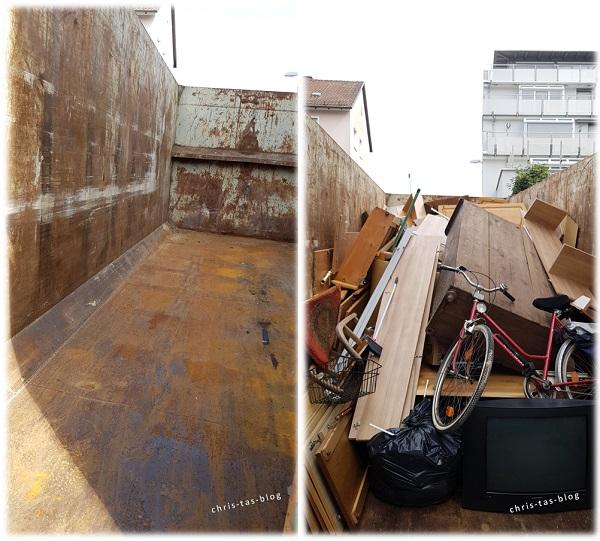 container für die Wohnungsaufloesung