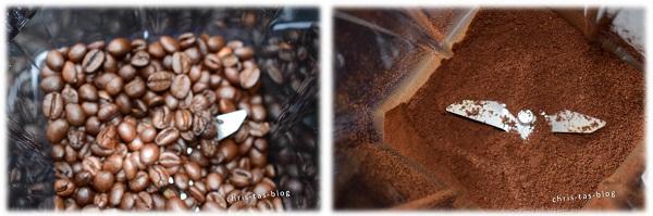Kaffeebohnen mahlen in der Klarstein Herakles 3G