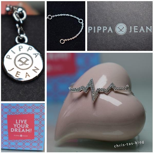 Details Silberkette Heartbeat Pippa & Jean