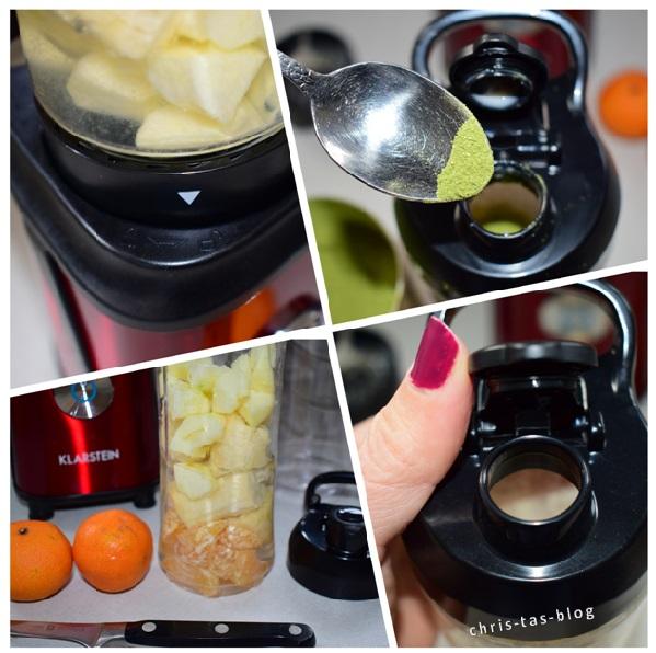 Smoothie zubereiten im Tuttifrutti von Klarstein