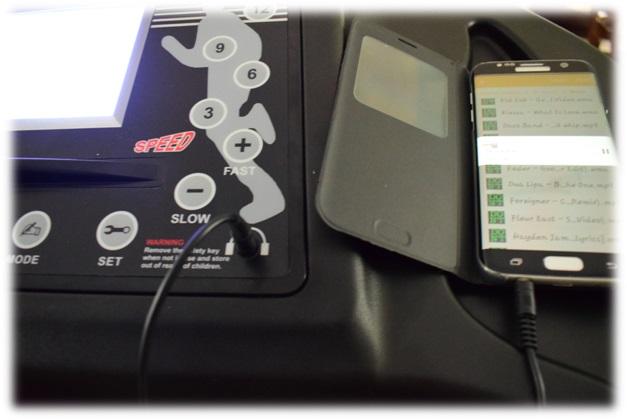 Smartphone mit dem Laufband verbinden