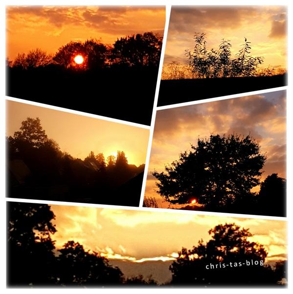 Sonnenuntergänge im Herbst
