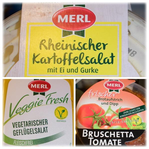 Rheinischer Kartoffelsalat, Geflügelsalat, Bruschetta