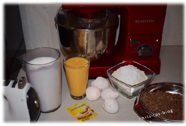 Zutaten für Oma´s Eierlikörkuchen