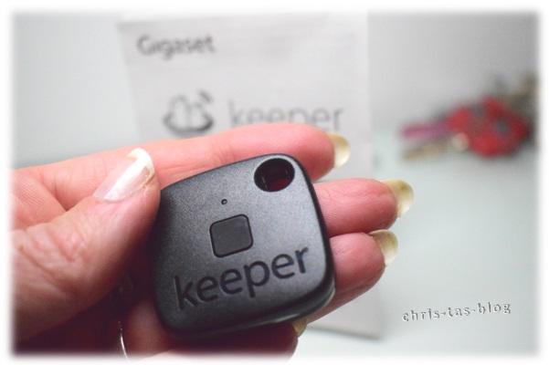 klein und formschön: gigaset keeper Schlüsselfinder