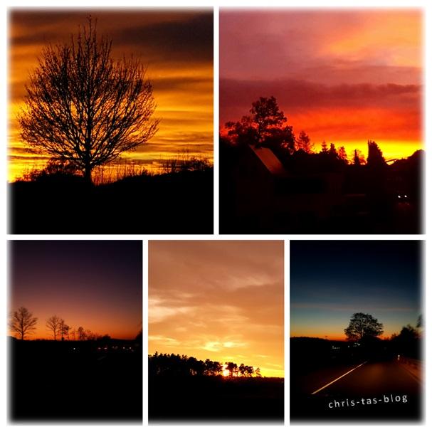 Sonnenuntergänge Winter 2016/2017